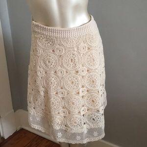 Maeve knit crochet style skirt